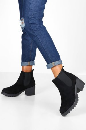 Boohoo Womens Cleated Chunky Chelsea Boots - - 5