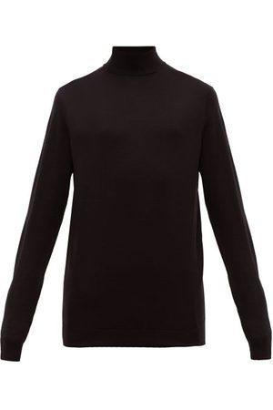 Sunspel Roll-neck Merino-wool Sweater - Mens