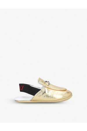Gucci Princetown metallic leather loafers 4-6 months