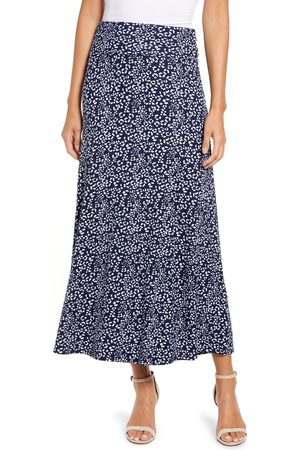 Loveappella Women's Roll Top Print Maxi Skirt