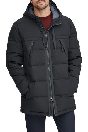 Marc Jacobs Men's Holden Water Resistant Down & Feather Fill Quilted Coat