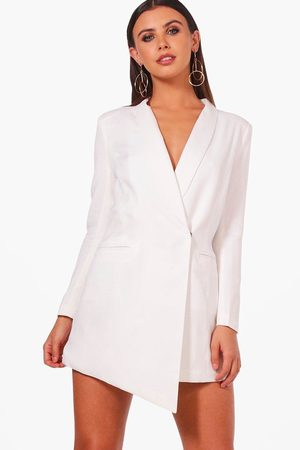 Boohoo Womens Petite Asymmetric Blazer Dress - - 10