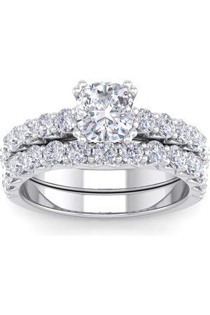 SuperJeweler 2.5 Carat Cushion Cut Diamond Bridal Ring Set in 14K (6.40 g) (