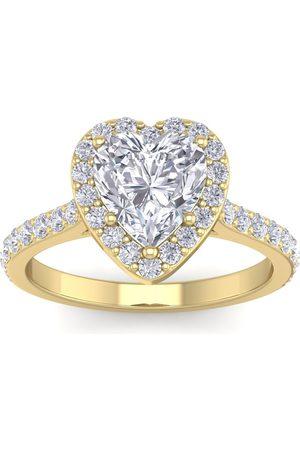 SuperJeweler 2.5 Carat Heart Shape Halo Diamond Engagement Ring in 14K (4.40 g)