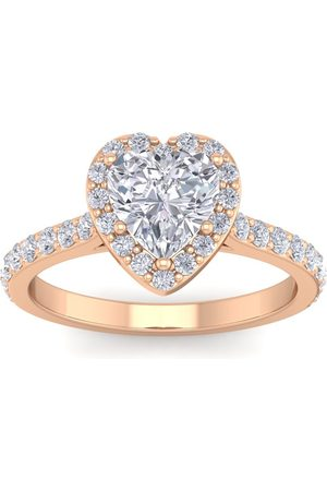 SuperJeweler 1 3/4 Carat Heart Shape Halo Diamond Engagement Ring in 14K (3.70 g)