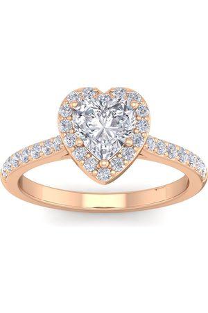 SuperJeweler 1 1/3 Carat Heart Shape Halo Diamond Engagement Ring in 14K (3.70 g)
