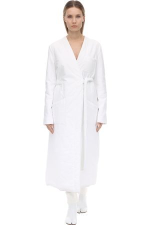 MM6 MAISON MARGIELA Padded Woven Cotton Shirt Dress