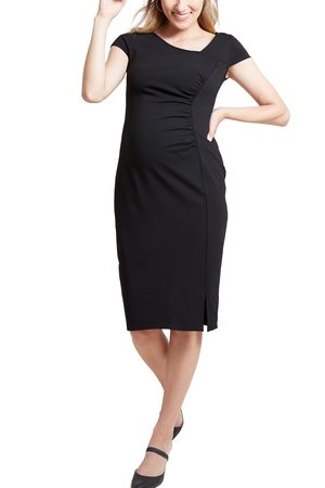 Ingrid & Isabel Women's Ingrid & Isabel Asymmetrical Neck Maternity Dress