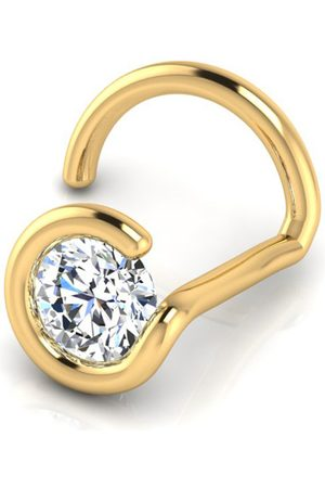 SuperJeweler 0.02 Carat 1.5mm Diamond Nose Ring in 14K
