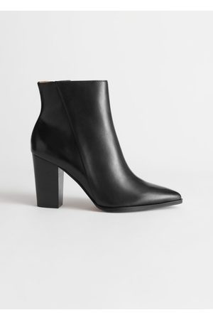 & OTHER STORIES Leather Pointed Ankle Boots