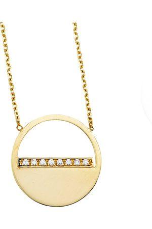 SuperJeweler 14K (2.30 g) Diamond Half Moon Necklace
