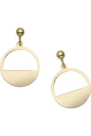 SuperJeweler 14K (1.90 g) Half Moon Dangle Earrings