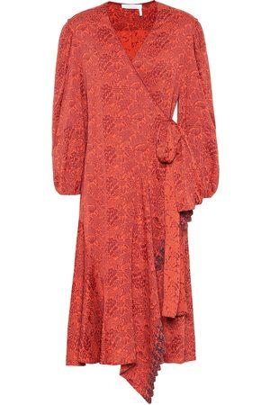 Chloé Floral jacquard wrap dress