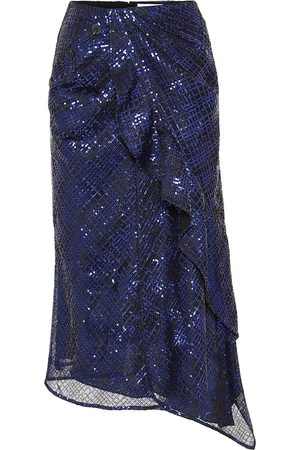 Self-Portrait Sequined midi skirt