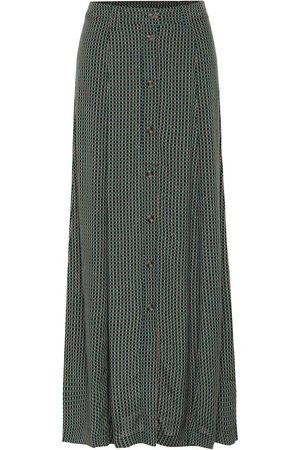 Ganni Checked maxi skirt