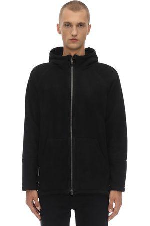 SALVATORE SANTORO Oversize Suede Jacket W/shearling Lining