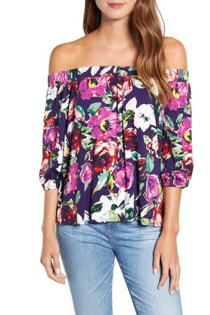 Loveappella Women's Loveapella Floral Off The Shoulder Top