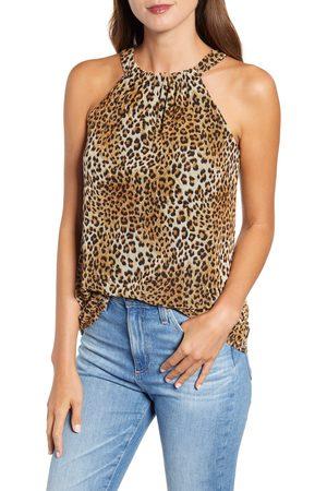 Loveappella Women's Leopard Print Mesh Tank