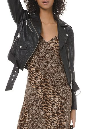 Michael Kors Textured Leather Moto Jacket