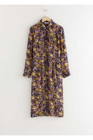 & OTHER STORIES Women Casual Dresses - Floral Utility Midi Shirt Dress