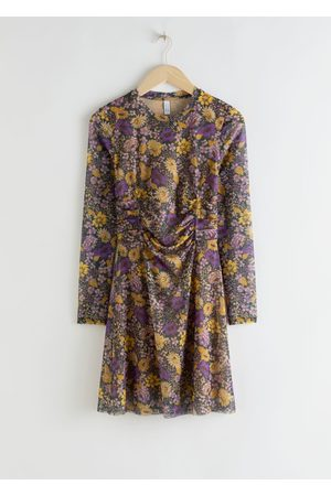 & OTHER STORIES Women Party Dresses - Gathered Waist Floral Mini Dress