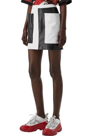 Burberry Leather Mini Skirt