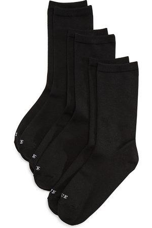 HUE Super Soft Crew Socks, Set of 3