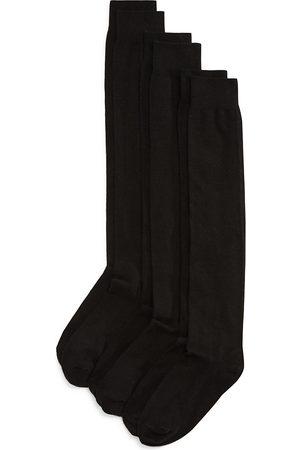 HUE Flat Knit Knee Socks, Set of 3