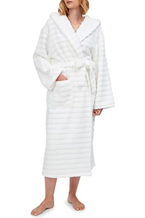 The White Company Women's Hooded Ribbed Hydrocotton Robe
