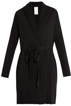 SKIN Double-layer Pima Cotton-jersey Wrap Robe - Womens