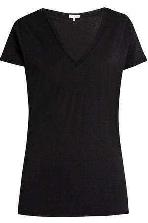 SKIN V-neck Pima-cotton Pyjama T-shirt - Womens