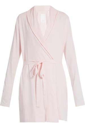 SKIN Double Layer Cotton Wrap Robe - Womens - Light