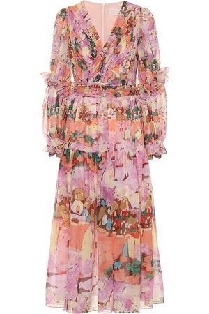 Peter Pilotto Floral georgette midi dress
