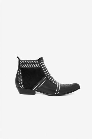 ANINE BING Charlie Suede Boots in Studs