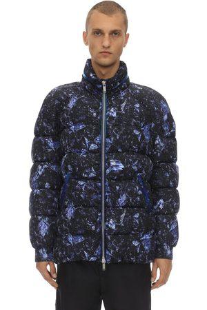Byblos Printed Nylon Zip Up Puffer Jacket