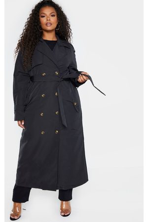 PRETTYLITTLETHING Plus Oversized Button Down Trench Coat