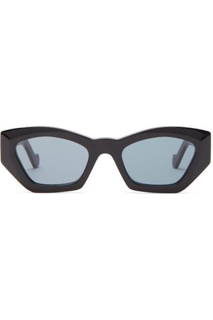 Loewe Geometric Cat Eye Acetate Sunglasses - Womens