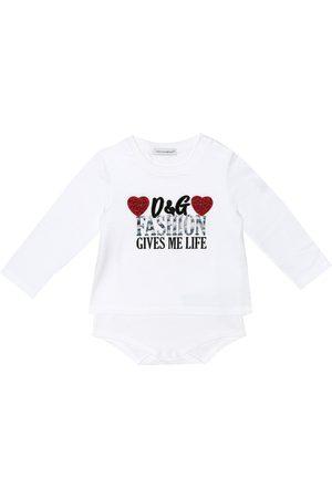 Dolce & Gabbana Baby printed cotton onesie
