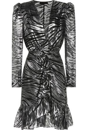 Dundas Women Printed Dresses - Zebra-print silk-blend minidress