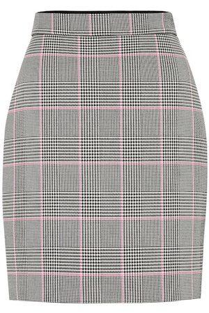 Msgm Women Mini Skirts - Check cotton-blend miniskirt