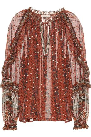 ULLA JOHNSON Calista fil coupé blouse