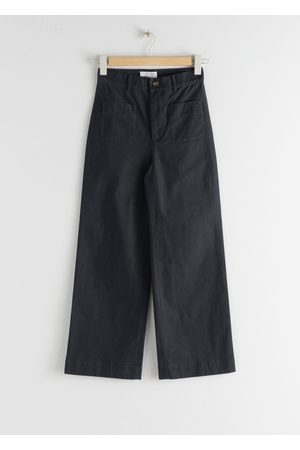 & OTHER STORIES High Waisted Twill Trousers