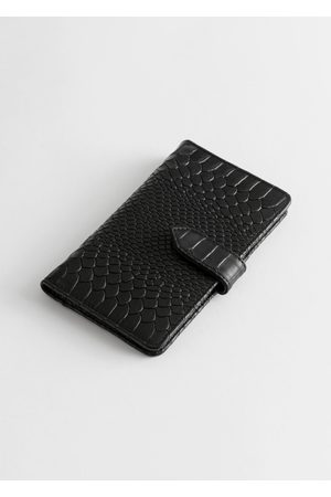 & OTHER STORIES Snake Print Leather Wallet