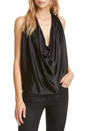 Ramy Brook Women's Convertible Stretch Silk Charmeuse Top