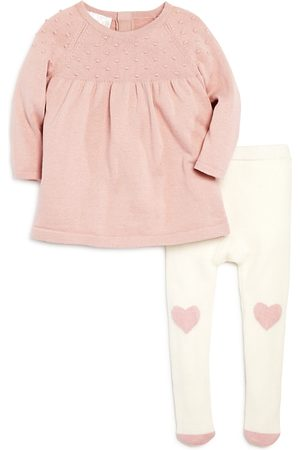 Bloomie's Baby Casual Dresses - Girls' Sweater Dress & Heart Tights Set, Baby - 100% Exclusive
