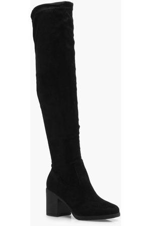 Boohoo Womens Chunky Over the Knee Boots - - 5