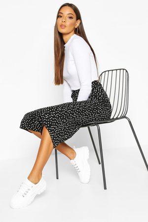 Boohoo Womens Belted Woven Polka Dot Culottes - - 6
