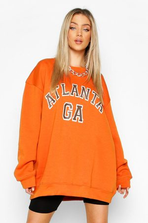 Boohoo Womens Oversized Atlanta Sweat - - M
