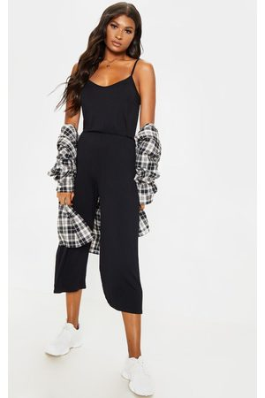 PRETTYLITTLETHING Strappy Jersey Culotte Jumpsuit