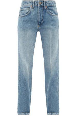 Raey Women Straight - Push Straight-leg Jeans - Womens - Light